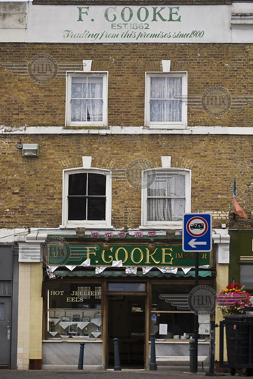 F Cooke's Pie and Mash shop in Broadway Market, Hackney, London.