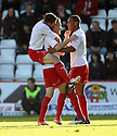 Greg Tansey of Stevenage scores and celebrates the winning goal. Stevenage v Scunthorpe United - npower League 1 -  Lamex Stadium, Stevenage - 6th October, 2012. © Kevin Coleman 2012