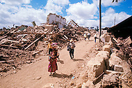 On February 4, 1976, Guatemala was struck by a major 7.5 magnitude earthquake, which contributed to the high death toll of 23.000 and about 80.000 wounded. It happened during the night and most adobe type houses in mountain villages collapsed. The population migrated on foot from the destroyed villages to the cities and tried to resume their small business.