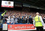 Huddersfield Town 1 Wolverhampton Wanderers 0, 27/08/2016. John Smith's Stadium, Championship. Wolves fans react to a save by Danny Ward of Huddersfield Town. Photo by Paul Thompson.