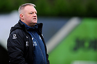 SWANSEA, WALES - JANUARY 13: Jon Grey head coach of Swansea City u23s during the Premier League 2 Division Two match between Swansea City u23s and Middlesbrough u23s at Swansea City AFC Training Academy  in Swansea, Wales, UK. Monday 13 January 2020.