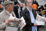 May Day march and rally at Trafalgar Square, May 1st, 2010 Socialist Appeal newspaper sellers paper of the International Marxist Tendency