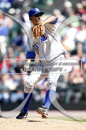 May 25, 2009:  Relief Pitcher Winston Abreu (30) of the Durham Bulls, International League Triple-A affiliate of the Tampa Bay Rays, delivers a pitch during a game at Frontier Field in Rochester, NY.  Photo by:  Mike Janes/Four Seam Images