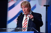 Washington, DC - September 9, 2016: Republican presidential candidate and businessman Donald J. Trump motions to a person in the audience as he speaks to attendees of the Values Voter Summit. Each year, the Family Research Council hosts the event, draws conservatives from around the country.  September 9, 2016  (Photo by Don Baxter/Media Images International)