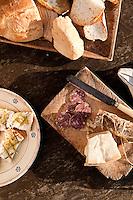 salumi, pecorino cheese, bruschette and olive oil