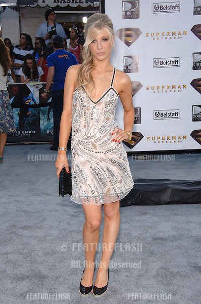 "Singer CALEIGH PETERS at the world premiere of ""Superman Returns"" in Los Angeles..June 21, 2006  Los Angeles, CA.© 2006 Paul Smith / Featureflash"