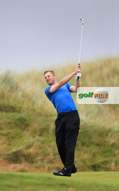 Simon Ward (Co. Louth) on the 6th during the South of Ireland Amateur Open Championship Final at Lahinch Golf Club  31th July 2013 <br /> Picture:  Thos Caffrey / www.golffile.ie