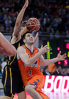 Valencia Basket Club's Stefan Markovic (r) and Herbalife Gran Canaria's Jon Scheyer during Spanish Basketball King's Cup semifinal match.February 07,2013. (ALTERPHOTOS/Acero) /NortePhoto