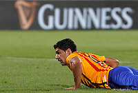 Calcio: amichevole Fiorentina vs Barcellona. Firenze, stadio Artemio Franchi, 2 agosto 2015.<br /> FC Barcelona's Luis Suarez reacts during the friendly match between Fiorentina and FC Barcelona at Florence's Artemio Franchi stadium, 2 August 2015.<br /> UPDATE IMAGES PRESS/Riccardo De Luca