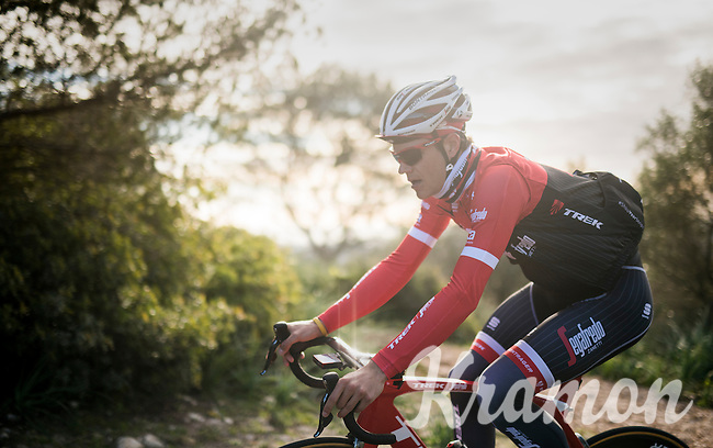 Jasper Stuyven (BEL/Trek-Segafredo) up the Puig de Randa<br /> <br /> Team Trek-Segafredo Training Camp <br /> january 2017, Mallorca/Spain