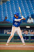 Cole Russo (22) of Tampa Jesuit High School in Tampa, FL during the Perfect Game National Showcase at Hoover Metropolitan Stadium on June 20, 2020 in Hoover, Alabama. (Mike Janes/Four Seam Images)