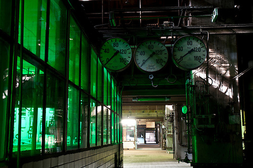 Inside an old disused power staion in the former East Germany