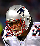 18 November 2007: New England Patriots linebacker Tedy Bruschi awaits the start of play prior to a game against the Buffalo Bills at Ralph Wilson Stadium in Orchard Park, NY. The Patriots defeated the Bills 56-10 in their second meeting of the season...Mandatory Photo Credit: Ed Wolfstein Photo