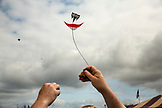 USA, Washington State, Long Beach Peninsula, International Kite Festival, miniature building and flying competition