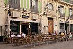 Cafe Terraces outside Plaza Abad Penalva Square, Alicante