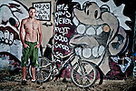 Mountain bike athlete lifestyle portrait.