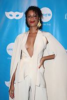 LOS ANGELES, CA - OCTOBER 27: AlunaGeorge, at UNICEF Next Generation Masquerade Ball Los Angeles 2017 At Clifton's Republic in Los Angeles, California on October 27, 2017. Credit: Faye Sadou/MediaPunch /NortePhoto.com