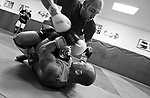 Sparring for his upcoming bout, George Sullivan is on top of his game as he lands punches to the head of 155-pound fighter Mike Medrano during an intense session at Kurt Pellegrino's mixed martial arts gym in Belmar.