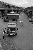 Kings Cross Goods Yard.  Many small businesses are threatend by the Railway Lands  redevelopment plans, London 1989.