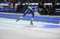 SCHAATSEN: HEERENVEEN: 14-12-2014, IJsstadion Thialf, ISU World Cup Speedskating, Mass Start, Jorrit Bergsma (#12 | NED), ©foto Martin de Jong