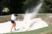 CHAPEL HILL, NC - OCTOBER 11: Pauline Roussin-Bouchard of the University of South Carolina hits out of a sand trap at UNC Finley Golf Course on October 11, 2019 in Chapel Hill, North Carolina.