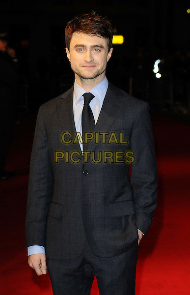 Daniel Radcliffe<br /> attended the &quot;Kill Your Darlings&quot; official competition gala screening, 57th BFI London Film Festival day 9, Odeon West End cinema, Leicester Square, London, England, UK, 17th October 2013.<br /> half length blue grey gray suit checked plaid tartan checked <br /> CAP/CAN<br /> &copy;Can Nguyen/Capital Pictures