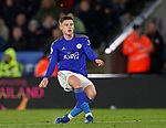 Harvey Barnes of Leicester City scores the first goal during the Premier League match at the King Power Stadium, Leicester. Picture date: 9th March 2020. Picture credit should read: Darren Staples/Sportimage