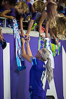 Orlando, FL - Thursday June 23, 2016: Kaylyn Kyle after a regular season National Women's Soccer League (NWSL) match between the Orlando Pride and the Houston Dash at Camping World Stadium.