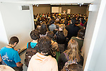 A packed house for the Challenging Male Supremacy Anti-Oppression training  at Powershift. Over six thousand young people from all over the country are converging in Pittsburgh, PA for Power Shift 2013, a massive training dedicated to bringing about a safe planet and a just future for all people. (Photo by: Robert van Waarden)