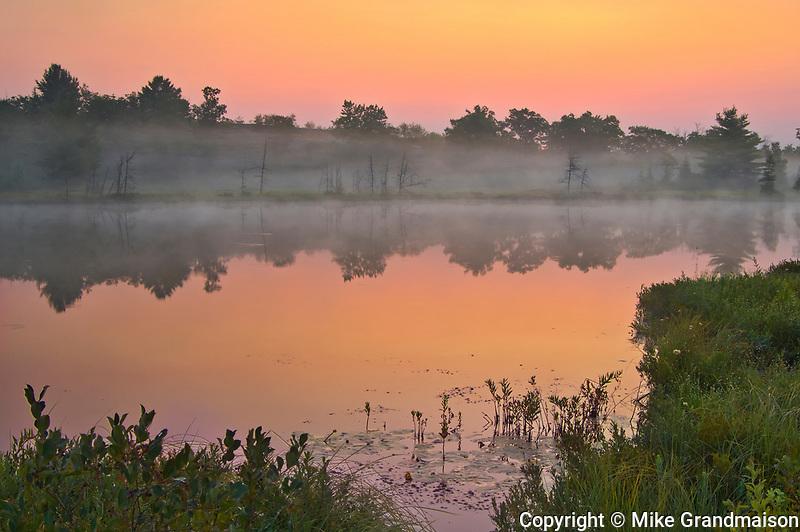 Morning fog on Highland Pond<br />Torrance Barrens  Dark-Sky Preserve<br />Ontario<br />Canada