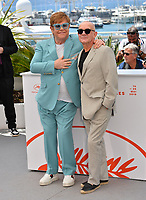"CANNES, FRANCE. May 16, 2019: Elton John & Bernie Taupin at the photocall for the ""Rocketman"" at the 72nd Festival de Cannes.<br /> Picture: Paul Smith / Featureflash"