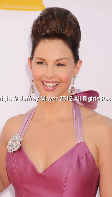 LOS ANGELES, CA - SEPTEMBER 23: Ashley Judd arrives at the 64th Primetime Emmy Awards at Nokia Theatre L.A. Live on September 23, 2012 in Los Angeles, California.