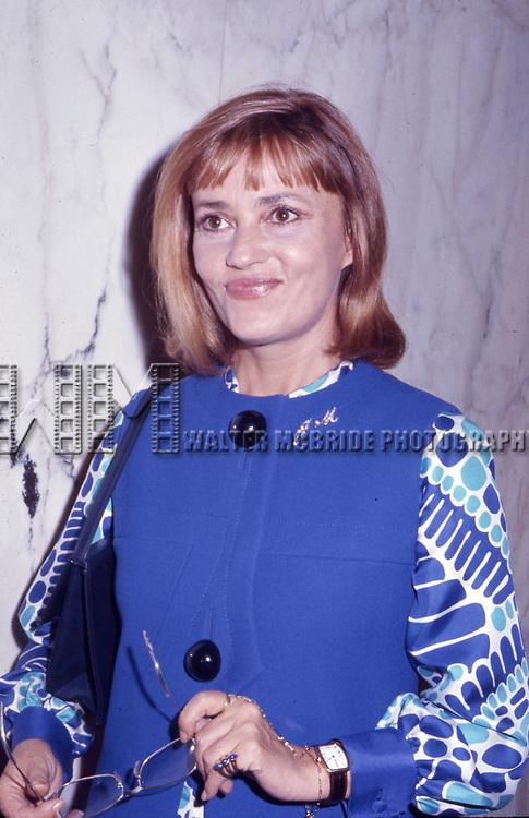 Jeanne Moreau October 1, 1970  in New York City.