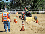 Youth Tractor (and excavator) Safety Rodeo crated by Bob Wolin and managed by his daughter, Cindi Wolin Vicini.<br /> <br /> Saturday, Day 3 of the 79th Amador County Fair, Plymouth, Calif.<br /> <br /> Local cowboy ranch rodeo, livestock beauty pageant, youth tractor rodeo, Mutton Bustin' finals<br /> <br /> <br /> #AmadorCountyFair, #PlymouthCalifornia,<br /> #TourAmador, #VisitAmador
