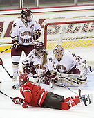 Tracy Johnson (BC - 5), Danielle Welch (BC - 17), Kiera Kingston (BC - 32), Tara Akstull (St. Lawrence - 7) - The visiting St. Lawrence University Saints defeated the Boston College Eagles 4-0 on Friday, January 15, 2010, at Conte Forum in Chestnut Hill, Massachusetts.