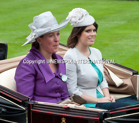 PRINCESS EUGENIE AND DUCHESS OF ARGYLL<br /> attend the Royal Meeting at Ascot on Ladies Day, Ascot Racecourse, Ascot_20/06/2013<br /> Mandatory Credit Photo: &copy;Dias/NEWSPIX INTERNATIONAL<br /> <br /> **ALL FEES PAYABLE TO: &quot;NEWSPIX INTERNATIONAL&quot;**<br /> <br /> IMMEDIATE CONFIRMATION OF USAGE REQUIRED:<br /> Newspix International, 31 Chinnery Hill, Bishop's Stortford, ENGLAND CM23 3PS<br /> Tel:+441279 324672  ; Fax: +441279656877<br /> Mobile:  07775681153<br /> e-mail: info@newspixinternational.co.uk