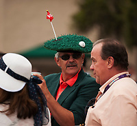 DEL MAR, CA - NOVEMBER 03: A spectator sports a fun hat on Day 1 of the 2017 Breeders' Cup World Championships at Del Mar Thoroughbred Club on November 3, 2017 in Del Mar, California. (Photo by Carson Dennis/Eclipse Sportswire/Breeders Cup)