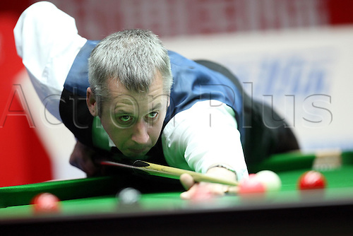 Mar 30, 2011; Beijing, CHINA; John Higgins defeats Nigel Bond 5:3 in the first round at the Bank of Beijing 2011 World Snooker China Open.