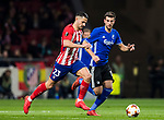 Victor Machin, Vitolo (L), of Atletico de Madrid is followed by Andrija Pavlovic of FC Copenhague during the UEFA Europa League 2017-18 Round of 32 (2nd leg) match between Atletico de Madrid and FC Copenhague at Wanda Metropolitano  on February 22 2018 in Madrid, Spain. Photo by Diego Souto / Power Sport Images