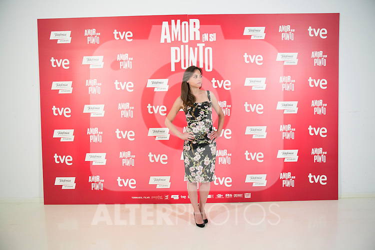 """Spanish Actress Leonor Watling attend the photocall at the presentation of the movie """"The Food Guide to Love (Amor En Su Punto)"""" at Kitchen Club in Madrid, Spain. May 05, 2014. (ALTERPHOTOS/Carlos Dafonte)"""