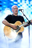 Pink Floyd - guitarist David Gilmour - performing live on stage with the reunited line-up at the Live 8 concert in Hyde Park, London UK -  02 July 2005.   Photo credit: George Chin/IconicPix