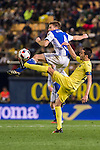 Asier Illarramendi Andonegi (up) of Real Sociedad battles for the ball with Bruno Soriano Llido of Villarreal CF during their Copa del Rey 2016-17 Round of 16 match between Villarreal and Real Sociedad at the Estadio El Madrigal on 11 January 2017 in Villarreal, Spain. Photo by Maria Jose Segovia Carmona / Power Sport Images