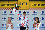 Warren Barguil (FRA) Team Sunweb retains the Polka Dot Jersey at the end of Stage 15 of the 104th edition of the Tour de France 2017, running 189.5km from Laissac-Severac l'Eglise to Le Puy-en-Velay, France. 16th July 2017.<br /> Picture: ASO/Pauline Ballet | Cyclefile<br /> <br /> <br /> All photos usage must carry mandatory copyright credit (&copy; Cyclefile | ASO/Pauline Ballet)