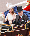 """KATE AND PRINCE WILLIAM.ride in the carriage procession from Westminster Hall to Buckingham Palace, on the occasion of the Queen's Diamond Jubilee Celebration_London_05/06/2012.Mandatory Credit Photo: ©SB/NEWSPIX INTERNATIONAL..**ALL FEES PAYABLE TO: """"NEWSPIX INTERNATIONAL""""**..IMMEDIATE CONFIRMATION OF USAGE REQUIRED:.Newspix International, 31 Chinnery Hill, Bishop's Stortford, ENGLAND CM23 3PS.Tel:+441279 324672  ; Fax: +441279656877.Mobile:  07775681153.e-mail: info@newspixinternational.co.uk"""