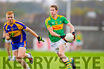 Aidan Walsh South Kerry in Action against Teddy Doyle Kenmare in the County Senior Football Semi Final at Fitzgerald Stadium Killarney on Sunday.