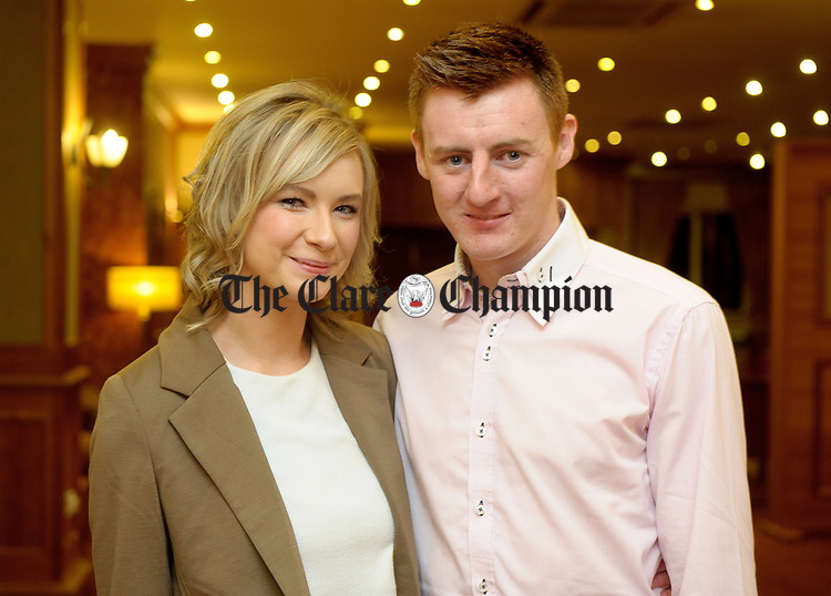 Emily Garvey and Sean Mahoney at the Inagh-Kilnamona victory social in the Falls Hotel, Ennistymon. Photograph by John Kelly.