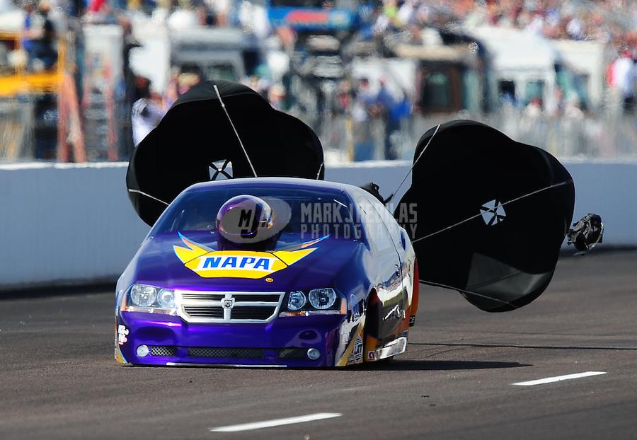Feb. 19, 2010; Chandler, AZ, USA; NHRA pro stock driver Vinnie Deceglie during qualifying for the Arizona Nationals at Firebird International Raceway. Mandatory Credit: Mark J. Rebilas-
