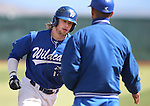 Western Nevada College's Rayne Raven rounds third after hitting a solo home run against the College of Southern Nevada during a college baseball game at John L. Harvey field, on Sunday, April 27, 2014, in Carson City, Nev.<br /> Photo by Cathleen Allison/Nevada Photo Source