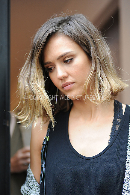 WWW.ACEPIXS.COM<br /> June 9, 2015 New York City<br /> <br /> Jessica Alba seen walking in Soho in New York City on June 9, 2015.<br /> <br /> By Line: Kristin Callahan/ACE Pictures<br /> <br /> tel: 646 769 0430<br /> Email: info@acepixs.com<br /> www.acepixs.com