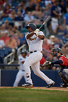 Trenton Thunder Chris Gittens (34) bats during an Eastern League game against the New Hampshire Fisher Cats on August 20, 2019 at Arm & Hammer Park in Trenton, New Jersey.  New Hampshire defeated Trenton 7-2.  (Mike Janes/Four Seam Images)